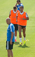 Ronaldo, Benzema and Zidane during Real Madrid´s first training session of 2013-14 seson. July 15, 2013. (ALTERPHOTOS/Victor Blanco) ©NortePhoto