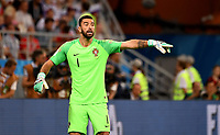 SARANSK - RUSIA, 25-06-2018: Rui PATRICIO (GK) arquero de Portugal en acción durante partido de la primera fase, Grupo B, entre RI de Irán y Portugal por la Copa Mundial de la FIFA Rusia 2018 jugado en el estadio Mordovia Arena en Saransk, Rusia. / Rui PATRICIO (GK), goalkeeper of Portugal, in action during the match between IR Iran and Portugal of the first phase, Group B, for the FIFA World Cup Russia 2018 played at Mordovia Arena stadium in Saransk, Russia. Photo: VizzorImage / Julian Medina / Cont