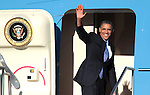 President Barack Obama leaves at Reno-Tahoe International airport, Tuesday, Aug. 21, 2012, after campaigning in Reno, Nev..Photo by Cathleen Allison