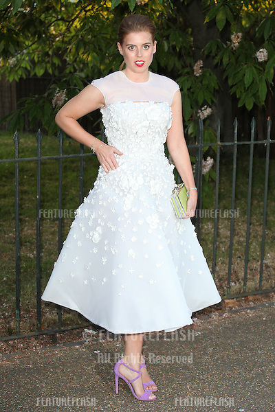 Princess Beatrice arriving for the Serpentine Summer Party, at the Serpentine Gallery, Hyde Park, London. 01/07/2014 Picture by: Alexandra Glen / Featureflash
