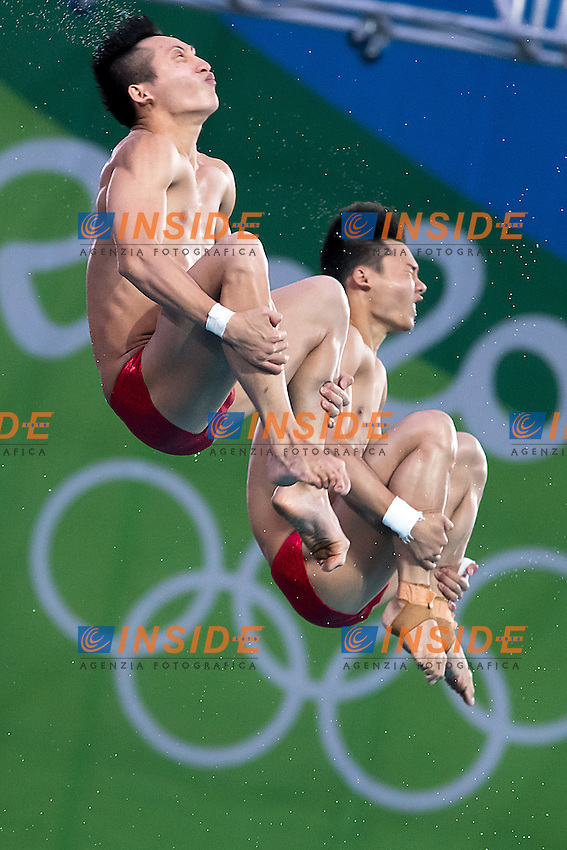Team China CHEN Aisen LIN Yue<br /> 10m platform synchro men<br /> Rio de Janeiro  XXXI Olympic Games <br /> Olympic Aquatics Stadium <br /> diving 08/08/2016<br /> Photo Giorgio Scala/Deepbluemedia/Insidefoto