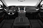 Stock photo of straight dashboard view of a 2015 GMC Yukon Xl Sle 5 Door Suv 2WD Dashboard