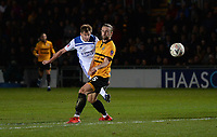 Leicester City's Marc Albrighton has a shot at goal<br /> <br /> Photographer Ian Cook/CameraSport<br /> <br /> The Emirates FA Cup Third Round - Newport County v Leicester City - Sunday 6th January 2019 - Rodney Parade - Newport<br />  <br /> World Copyright © 2019 CameraSport. All rights reserved. 43 Linden Ave. Countesthorpe. Leicester. England. LE8 5PG - Tel: +44 (0) 116 277 4147 - admin@camerasport.com - www.camerasport.com