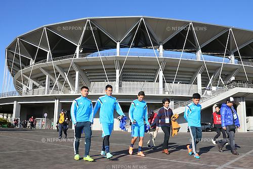 (L-R)<br /> Adisak Kinkosum,<br /> Ryuji Utomo,<br /> Syamsir Alam,<br /> Atthawit Sukchuai,<br /> 2014 JPFA Tryout at Fukuda Denshi Arena in Chiba, Japan on December 3rd, 2014.<br /> (Photo by Shingo Ito/AFLO SPORT)