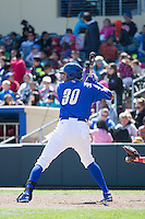 Jose Martinez (30) of the Omaha Storm Chasers at bat against the Memphis Redbirds in Pacific Coast League action at Werner Park on April 22, 2015 in Papillion, Nebraska.  (Stephen Smith/Four Seam Images)