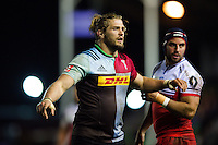 Luke Wallace of Harlequins looks on. European Rugby Challenge Cup semi final, between Harlequins and Grenoble on April 22, 2016 at the Twickenham Stoop in London, England. Photo by: Patrick Khachfe / JMP