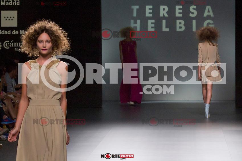 01.09.2012. Models walk the runway in the Teresa Helbig fashion show during the Mercedes-Benz Fashion Week Madrid Spring/Summer 2013 at Ifema. (Alterphotos/Marta Gonzalez) /NortePhoto.com<br /> <br /> **CREDITO*OBLIGATORIO** <br /> *No*Venta*A*Terceros*<br /> *No*Sale*So*third*<br /> *** No*Se*Permite*Hacer*Archivo**<br /> *No*Sale*So*third*