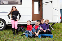 2/10/2010.  Taveler's Ellen Stokes 10, Fono 2, Michael 3, Maggie 2 and Eileen 1 from Galway are pictured at the Ballinasloe Horse Fair, Ballinasloe, County Galway, Ireland. Picture James Horan