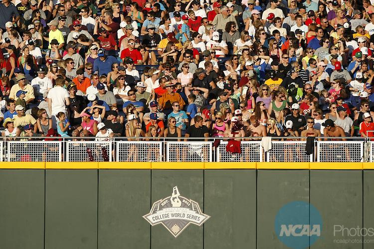 27 JUNE 2011:  The University of South Carolina takes on the University of Florida during the Division I Men's Baseball Championship held at TD Ameritrade Stadium in Omaha, NE.  Jamie Schwaberow/NCAA Photos