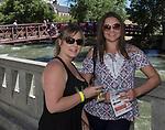 Anastasia and Kristin during the Reno Wine Walk in downtown Reno on Saturday, June 17, 2017.