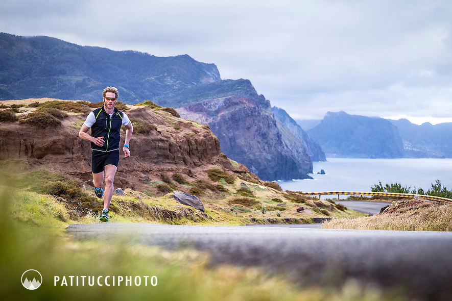Road running along the coastline of Madeira Island