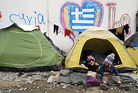 Idomeni / Athens 03/04/2016<br /> Refugees living in tents in Idomeni refugee camp, close the border with FYROM.<br /> Photo Livio Senigalliesi