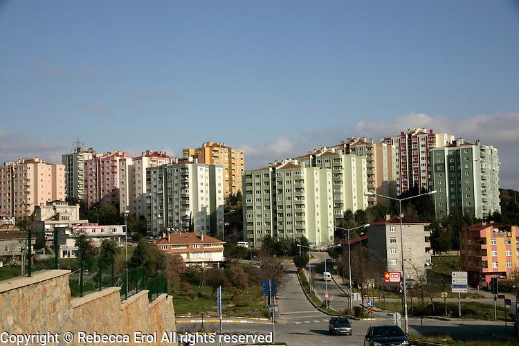 Apartment blocks in the suburbs of Pendik, Istanbul, Turkey