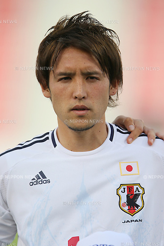 Hajime Hosogai (JPN), <br /> JUNE 11, 2013 - Football / Soccer : <br /> FIFA World Cup Brazil 2014 Asian Qualifier <br /> Final Round Group B <br /> between Iraq 0-1 Japan <br /> at Al-Arabi Stadium, Doha, Qatar. <br /> (Photo by YUTAKA/AFLO SPORT)