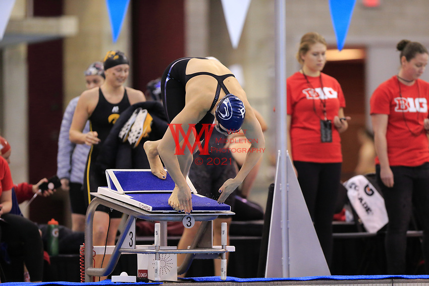 The 2018 Big Ten Conference Women's Swimming and Diving championships hosted by the Ohio State university at the McCorkle Aquatic Pavilion. February 16, 2018