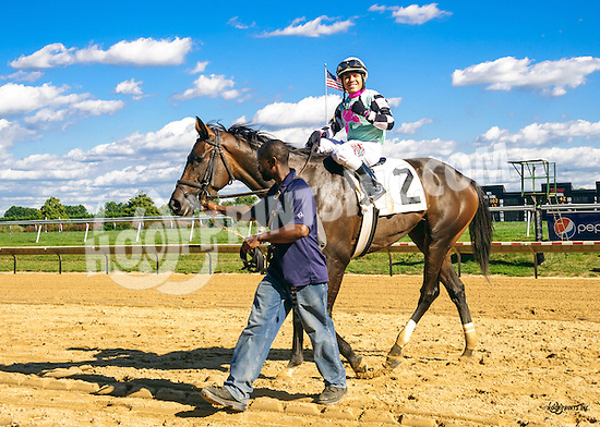 Tizsomethingroyal winning at Delaware Park on 9/7/16