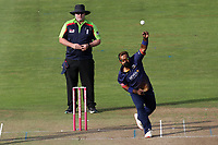 Ashar Zaidi in bowling action for Essex during Glamorgan vs Essex Eagles, Vitality Blast T20 Cricket at the Sophia Gardens Cardiff on 7th August 2018