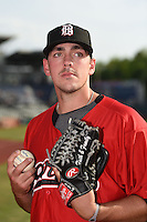 Birmingham Barons pitcher Chris Beck (50) poses for a photo before a game against the Chattanooga Lookouts on April 24, 2014 at AT&T Field in Chattanooga, Tennessee.  Chattanooga defeated Birmingham 5-4.  (Mike Janes/Four Seam Images)