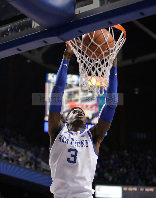 UK freshman forward Nerlens Noel dunks the ball against LIU at Rupp Arena on Friday, Nov. 23, 2012. Photo by Scott Hannigan | Staff