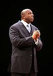 "Earvin 'Magic' Johnson.during the Broadway Opening Night Performance Curtain Call for ""Magic / Bird"" at the Longacre Theatre in New York City on April 11, 2012"