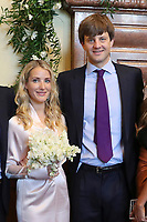 Mariage civil du Prince Ernst junior de Hanovre et de Ekaterina Malysheva, &agrave; l' h&ocirc;tel de ville de Hanovre.<br /> Allemagne, Hanovre, 6 juillet 2017.<br /> Civil wedding of Prince Ernst Junior of Hanover and Ekaterina Malysheva at the new Town Hall in Hanover.<br /> Germany, Hanover, 6 july 2017<br /> Pic : Prince Ernst Junior of Hanover,&amp; Ekaterina Malysheva<br /> Pool photos