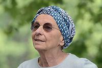 Roma, 12 Maggio 2017<br /> Emma Bonino.<br /> Fiori sulla lapide di Giorgiana Masi a Ponte Garibaldi nel 40 &deg; anniversario della sua uccisione.