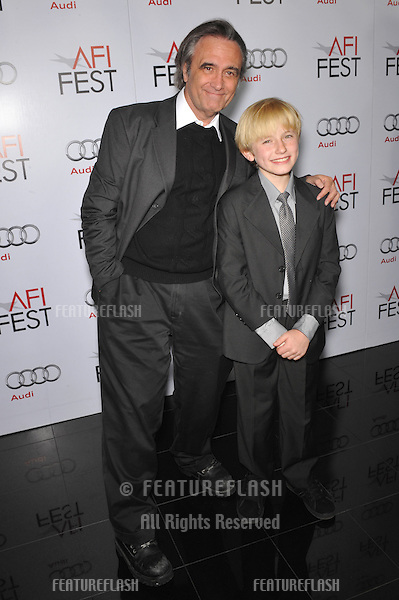 "Director Joe Dante (left) & actor Nathan Gamble at the premiere of their new movie ""The Hole"" at the AFI Fest 2009 at Mann's Chinese 6 Theatre, Hollywood..October 31, 2009  Los Angeles, CA.Picture: Paul Smith / Featureflash"