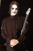 (#4) Jim Root – guitars , Slipknot Studio Portrait Session .In Desmoines Iowa in 2001.Photo Credit: Eddie Malluk/Atlas Icons.com