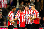Nederland, Amsterdam, 4 oktober  2012.Seizoen 2012-2013.EuropaLeague.PSV-Napoli.Jeremain Lens van PSV juicht na het scoren van de 1-0