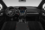Stock photo of straight dashboard view of 2019 Acura MDX A-Spec 5 Door SUV Dashboard