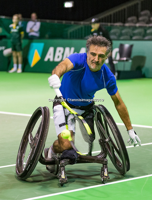 Rotterdam, The Netherlands, 14 Februari 2019, ABNAMRO World Tennis Tournament, Ahoy, Wheelchair singles, Final, Stephane Houdet (FRA),<br /> Photo: www.tennisimages.com/Henk Koster