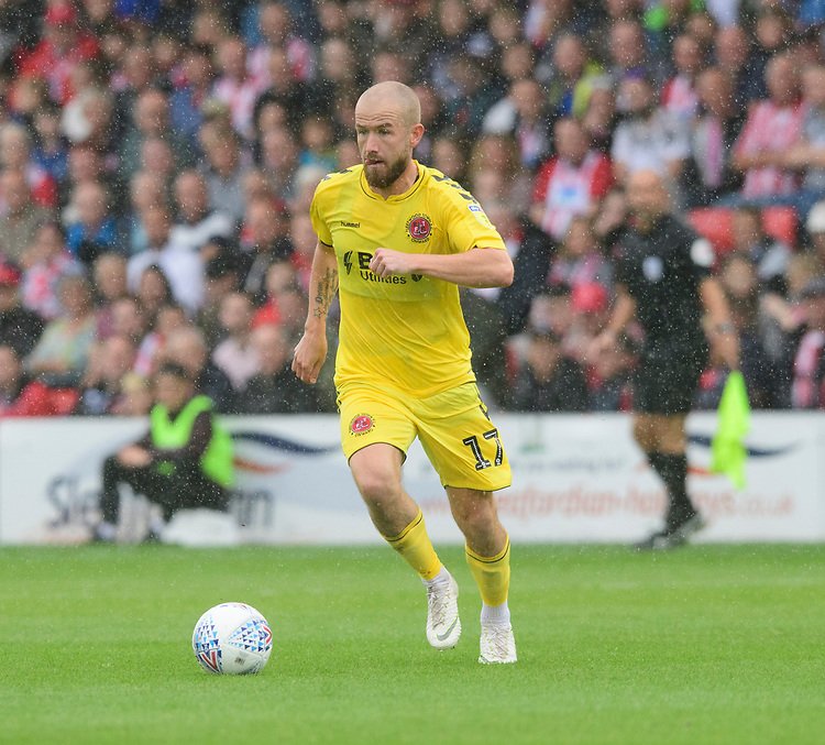Fleetwood Town's Paddy Madden<br /> <br /> Photographer Chris Vaughan/CameraSport<br /> <br /> The EFL Sky Bet League One - Lincoln City v Fleetwood Town - Saturday 31st August 2019 - Sincil Bank - Lincoln<br /> <br /> World Copyright © 2019 CameraSport. All rights reserved. 43 Linden Ave. Countesthorpe. Leicester. England. LE8 5PG - Tel: +44 (0) 116 277 4147 - admin@camerasport.com - www.camerasport.com