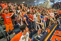 NWA Democrat-Gazette/ANTHONY REYES &bull; @NWATONYR<br /> Students dance Friday, Sept. 25, 2015 during a pep rally at Heritage High School in Rogers. The event included the introduction of the 2015 homecoming court, musical performances, dancing and a pep rally for a football game against Springdale.