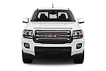 Car photography straight front view of a 2019 GMC Canyon 4WD SLE Extended Cab 5 Door Pick Up