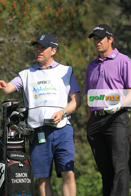 Simon Thornton (IRL) on the 4th tee on Day 3 of the 2012 Open de Andalucia Costa del Sol at Aloha Golf Club, Marbella, Spain...(Photo Jenny Matthews/www.golffile.ie)