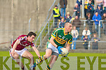 Kerry's Kieran Donaghy and Galway's Damien Burke.