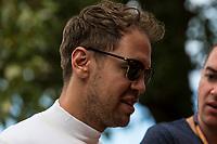 12th March 2020; Melbourne Grand Prix Circuit, Melbourne, Victoria, Australia; Formula One, Australian Grand Prix, Practice Day; Scuderia Ferrari driver Sebastian Vettel