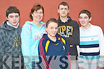 KDYS QUIZ: The Velentia Island youth club competing in the KDYS quiz as part of the KDYS games in Killarney on Sunday l-r: Aidan Lewis, Bernnie O'Driscoll, Dannii O'Sullivan, Gavin Reidy and Lawrence Lynch.