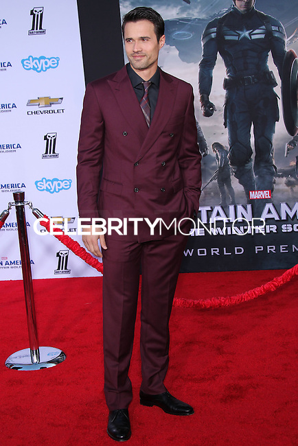 "HOLLYWOOD, LOS ANGELES, CA, USA - MARCH 13: Brett Dalton at the World Premiere Of Marvel's ""Captain America: The Winter Soldier"" held at the El Capitan Theatre on March 13, 2014 in Hollywood, Los Angeles, California, United States. (Photo by Xavier Collin/Celebrity Monitor)"