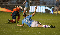 11th January 2020; Academy Stadium, Manchester, Lancashire, England; The FAs Women's Super League, Manchester City Women versus Everton Women; Pauline Bremer of Manchester City Women  appeals for a penalty that is not given as rain falls heavily  - Editorial Use