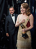 26.02.2017; Hollywood, USA: CONTRAST IN EMOTIONS OF THE OSCAR WINNERS - EMMA STONE LOOKING ECSTATIC<br /> For the first time in the 88-year history of the Oscars the wrong picture was announced as the winner of the Best Picture Award. Instead of &quot;Moonlight&quot; being announced as the winner, La LA Land was declared the winner by presenter Faye Dunaway.<br /> It appears the fault was that of the accountants Price Waterhouse Coopers whose representatives Martha Ruiz and Brian Cullinan are the onle people who know the results of the winners prior to the event.<br /> In a statement issued by the PWC they have apologised for their error.<br /> Mandatory Photo Credit: &copy;AMPAS/NEWSPIX INTERNATIONAL<br /> <br /> IMMEDIATE CONFIRMATION OF USAGE REQUIRED:<br /> Newspix International, 31 Chinnery Hill, Bishop's Stortford, ENGLAND CM23 3PS<br /> Tel:+441279 324672  ; Fax: +441279656877<br /> Mobile:  07775681153<br /> e-mail: info@newspixinternational.co.uk<br /> Usage Implies Acceptance of Our Terms &amp; Conditions<br /> Please refer to usage terms. All Fees Payable To Newspix International