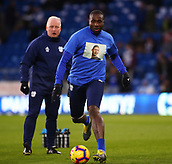 2nd February 2019, Cardiff City Stadium, Cardiff, Wales; EPL Premier League football, Cardiff City versus AFC Bournemouth; Sol Bamba of Cardiff City wears a shirt featuring Emiliano Sala during warm up