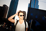 Sondre Lerche walks to his next gig in Austin, Texas during the 2011 SXSW Music Festival.