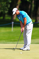 Jaco Van Zyl putts at the 3rd green during the BMW PGA Golf Championship at Wentworth Golf Course, Wentworth Drive, Virginia Water, England on 25 May 2017. Photo by Steve McCarthy/PRiME Media Images.