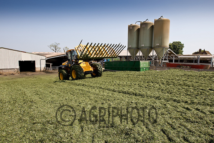 26.4.2011 Grass being clamped for Silage.©Tim Scrivener 07850 303986
