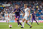 Marcos Llorente (r) of Real Madrid fights for the ball with Milan Badelj of ACF Fiorentina during the Santiago Bernabeu Trophy 2017 match between Real Madrid and ACF Fiorentina at the Santiago Bernabeu Stadium on 23 August 2017 in Madrid, Spain. Photo by Diego Gonzalez / Power Sport Images