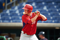 Philadelphia Phillies Greg Pickett (28) during an instructional league game against the New York Yankees on September 29, 2015 at Brighthouse Field in Clearwater, Florida.  (Mike Janes/Four Seam Images)