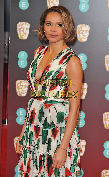 Carmen Ejogo at the EE British Academy Film Awards (BAFTAs) 2017, Royal Albert Hall, Kensington Gore, London, England, UK, on Sunday 12 February 2017.<br /> CAP/CAN<br /> &copy;CAN/Capital Pictures