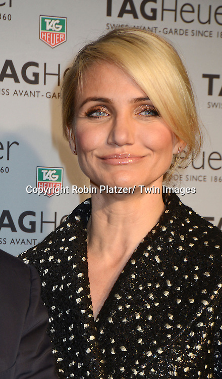 Cameron Diaz  opens first Tag Heuer Store in New York City on January 28, 2014.