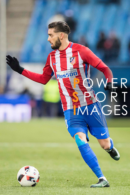 Yannick Ferreira Carrasco of Atletico de Madrid in action during their Copa del Rey 2016-17 Quarter-final match between Atletico de Madrid and SD Eibar at the Vicente Calderón Stadium on 19 January 2017 in Madrid, Spain. Photo by Diego Gonzalez Souto / Power Sport Images